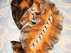 Шарф-волан-капуста, для начинающих   Ярмарка Мастеров - ручная работа, handmade