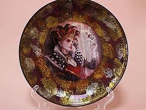 Тарелочка со сложным фоном «Джокер». Ярмарка Мастеров - ручная работа, handmade.