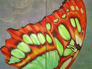 Рисуем акрилом. Интрерьерная бабочка. Ярмарка Мастеров - ручная работа, handmade.