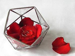 Создаем свадебную шкатулку из витражного стекла в технике Тиффани. Ярмарка Мастеров - ручная работа, handmade.