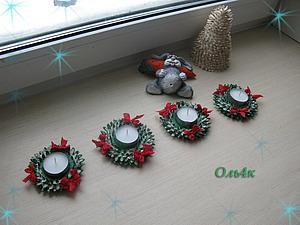 Рождественский подсвечник | Ярмарка Мастеров - ручная работа, handmade