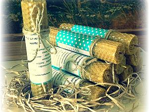 Эко-свечи из вощины с травами.Новинка магазина Kitmanufacture. | Ярмарка Мастеров - ручная работа, handmade