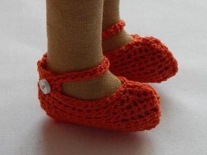 Вяжем туфельки для куклы быстро и просто. Ярмарка Мастеров - ручная работа, handmade.