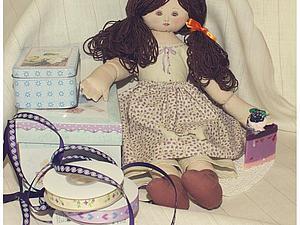Шьем текстильную куклу в винтажном стиле. | Ярмарка Мастеров - ручная работа, handmade
