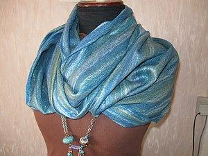 МК по изготовлению шарфа-паутинки | Ярмарка Мастеров - ручная работа, handmade