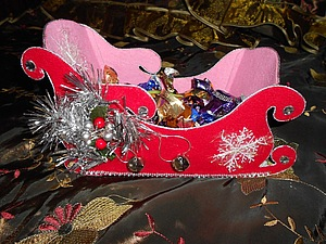 "Конфетница ""Санки Деда Мороза"". Ярмарка Мастеров - ручная работа, handmade."