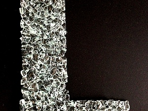 Буквы для декора стен из стекла Фьюзинг. Ярмарка Мастеров - ручная работа, handmade.