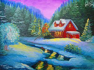 Аукцион на зимний пейзаж) | Ярмарка Мастеров - ручная работа, handmade