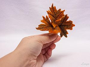 Букет осенних листьев (видео мастер-класс по мокрому валянию). Ярмарка Мастеров - ручная работа, handmade.