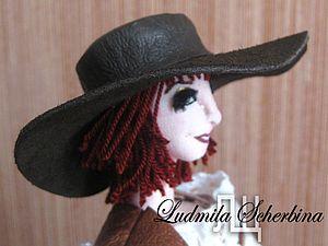 Кожаная шляпа для куклы | Ярмарка Мастеров - ручная работа, handmade