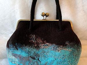 МК по сумке с цельноваляными ручками | Ярмарка Мастеров - ручная работа, handmade