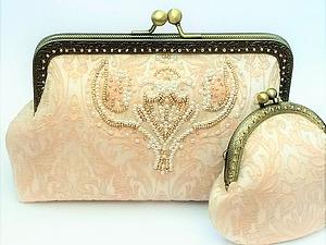 Шьем нежный кремовый клатч для невесты. Ярмарка Мастеров - ручная работа, handmade.