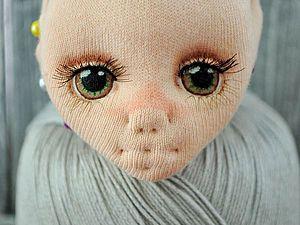 Рисуем глазки текстильной куколке | Ярмарка Мастеров - ручная работа, handmade
