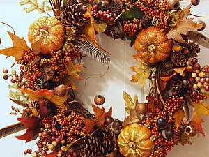 Осенняя интерьерная композиция со скидкой | Ярмарка Мастеров - ручная работа, handmade