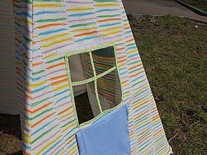 Мастер-класс: домик-вигвам своими руками. Ярмарка Мастеров - ручная работа, handmade.