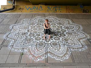 Город в кружевах: нежно-ажурный стрит-арт от дизайнера NeSpoon. Ярмарка Мастеров - ручная работа, handmade.