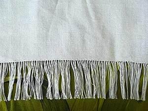 Как  быстро вытрепать нитки для брахромы рушника. Ярмарка Мастеров - ручная работа, handmade.