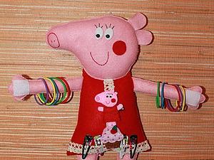 Мастерим из фетра органайзер для заколочек и резиночек «Свинка Пеппа». Ярмарка Мастеров - ручная работа, handmade.