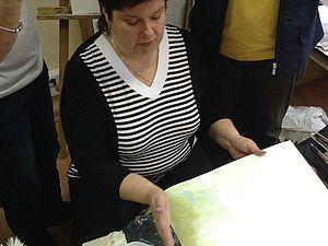 Акварельные хризантемы на мастер-классе. | Ярмарка Мастеров - ручная работа, handmade