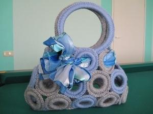 Сумочка из колец для штор. Ярмарка Мастеров - ручная работа, handmade.