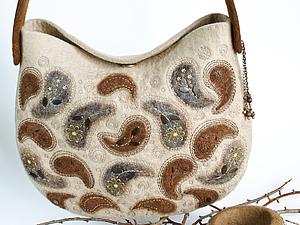 Валяем стильную сумку из кардочёса. Ярмарка Мастеров - ручная работа, handmade.