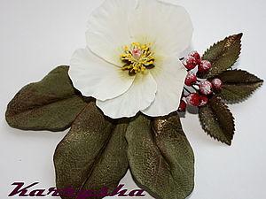 МК «Новогоднее украшение «Рождественская Роза» из холодного фарфора» | Ярмарка Мастеров - ручная работа, handmade