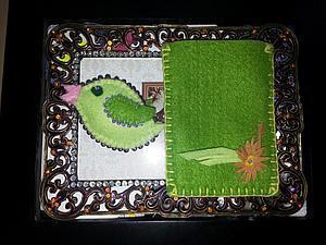 Мастер-класс сувениры из фетра. Чехол для сот.+ брелок птичка. | Ярмарка Мастеров - ручная работа, handmade