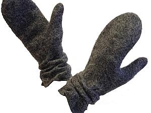 Пушистые рукавички с гофрированными манжетами, Москва. | Ярмарка Мастеров - ручная работа, handmade