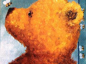 Салфетки Мишки Asger и Disney Vinni Pooh   Ярмарка Мастеров - ручная работа, handmade