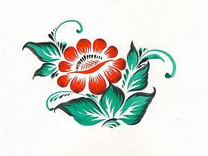 Роспись: Нолинский цветочек. Ярмарка Мастеров - ручная работа, handmade.