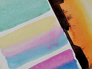 Заливки в акварели. Цветовая растяжка. Ярмарка Мастеров - ручная работа, handmade.