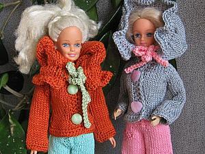 Курточка с воротником-капюшоном для барби, для интерьерных кукол и для тильд | Ярмарка Мастеров - ручная работа, handmade