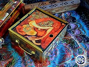 Коробка для чая превращается в восточную шкатулку, мастер-класс. | Ярмарка Мастеров - ручная работа, handmade