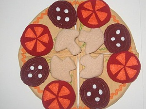 Шьем игрушку «Пицца» для ребенка. Ярмарка Мастеров - ручная работа, handmade.