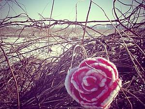 Валяние для начинающих: брошь-цветок. Ярмарка Мастеров - ручная работа, handmade.