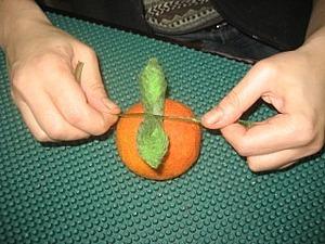 Мокрое валяние для начинающих: апельсин. Ярмарка Мастеров - ручная работа, handmade.