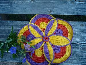 коврик крочком | Ярмарка Мастеров - ручная работа, handmade