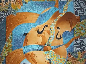Мастер-класс: роспись платка «Музыка дождя». Ярмарка Мастеров - ручная работа, handmade.