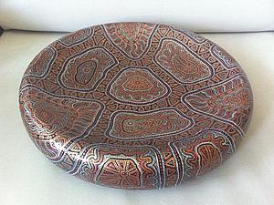 Точечная роспись на керамической поверхности. | Ярмарка Мастеров - ручная работа, handmade