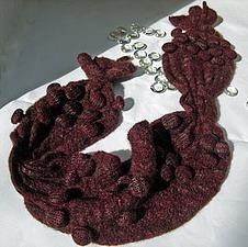 Вязанно-валяный шарф в технике шибори. Ярмарка Мастеров - ручная работа, handmade.