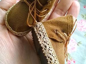 Создаем обувку для куколки. Ярмарка Мастеров - ручная работа, handmade.