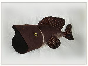 Рыбный День. Шапка для бани валяная.  handmade