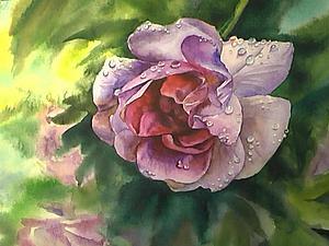 Рисуем акварелью капли дождя. Ярмарка Мастеров - ручная работа, handmade.