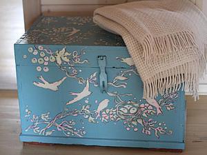 Расписываем бабушкин сундук, шкаф, стол и тумбочку краской по мебели. Ярмарка Мастеров - ручная работа, handmade.