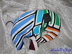 Подушка Радужный слон с карманом   Ярмарка Мастеров - ручная работа, handmade