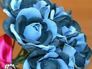 Букет джинсовых роз   Ярмарка Мастеров - ручная работа, handmade