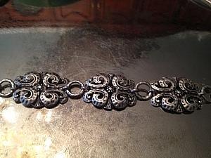 Новый посеребренный браслет в винтажном стиле