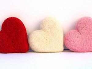 Теперь и на Щукинской! Валяное сердце. | Ярмарка Мастеров - ручная работа, handmade