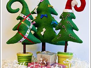 Новогодняя елочка из фетра! | Ярмарка Мастеров - ручная работа, handmade