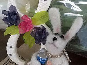 Предлагаю за два часа свалять зайку на 8 Марта. Ярмарка Мастеров - ручная работа, handmade.